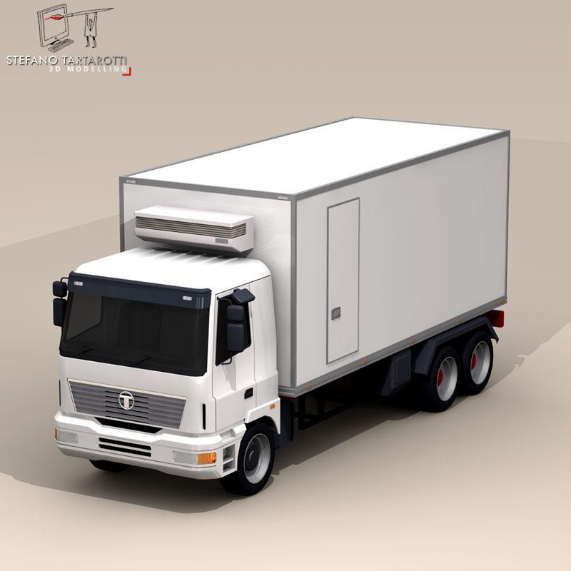 kravas automašīna ledusskapis 3d modelis 3ds dxf fbx c4d dae obj 85275