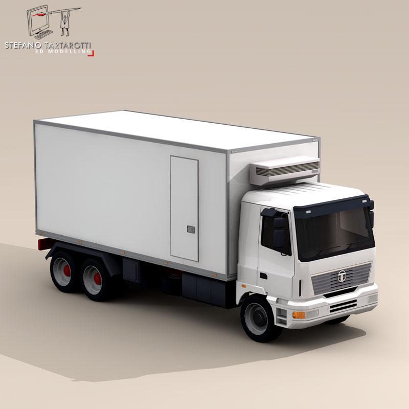 kravas automašīna ledusskapis 3d modelis 3ds dxf fbx c4d dae obj 85276