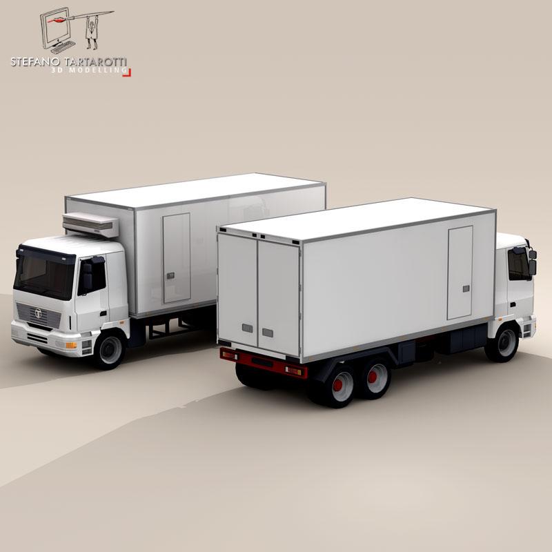 kravas automašīna ledusskapis 3d modelis 3ds dxf fbx c4d dae obj 85277