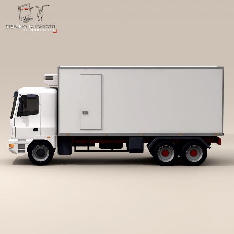 kravas automašīna ledusskapis 3d modelis 3ds dxf fbx c4d dae obj 85278