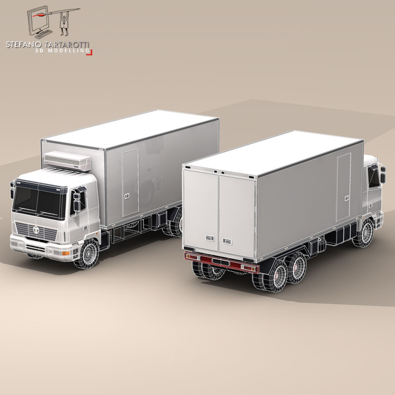 kravas automašīna ledusskapis 3d modelis 3ds dxf fbx c4d dae obj 85279