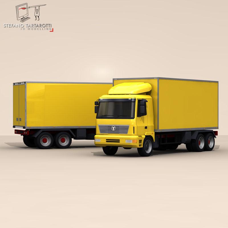 truck2 3d model 3ds dxf fbx c4d dae obj 85281