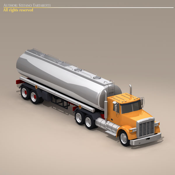 us tanker truck 3d model 3ds dxf c4d obj 112891