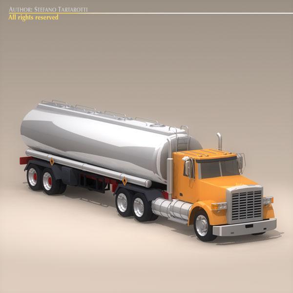 us tanker truck 3d model 3ds dxf c4d obj 112892