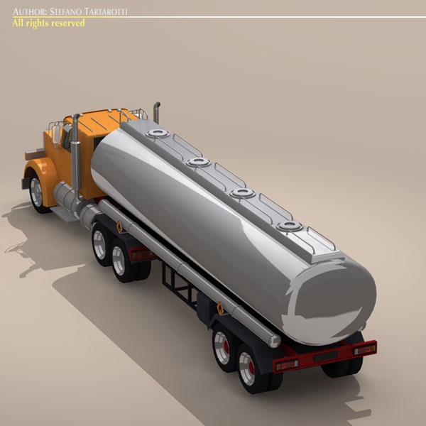 us tanker truck 3d model 3ds dxf c4d obj 112893