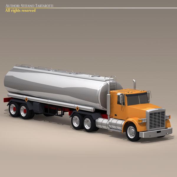 us tanker truck 3d model 3ds dxf c4d obj 112894