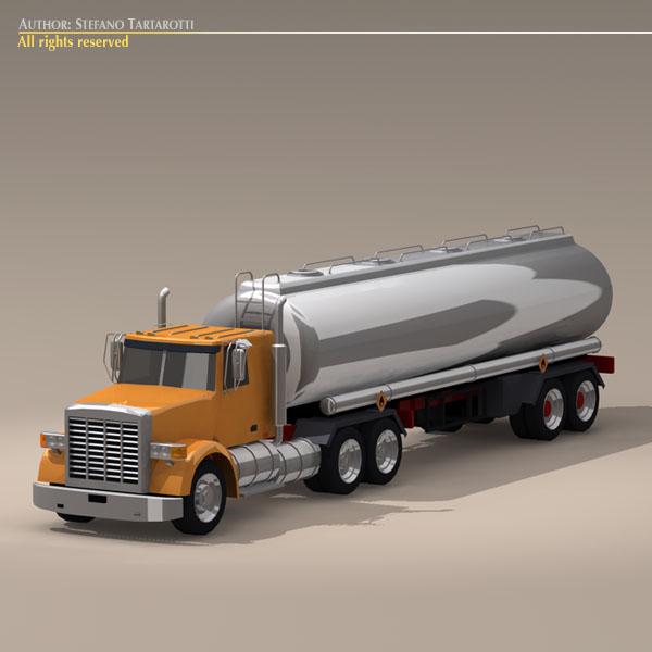 us tanker truck 3d model 3ds dxf c4d obj 112895
