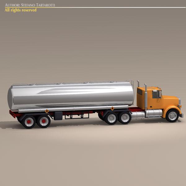 us tanker truck 3d model 3ds dxf c4d obj 112896