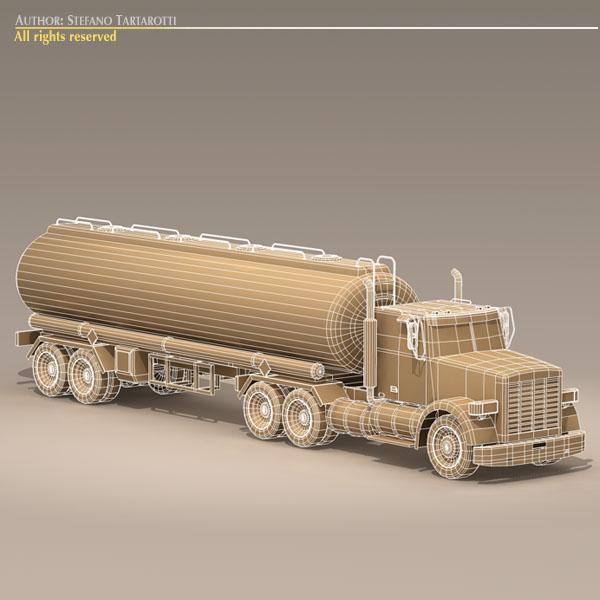 us tanker truck 3d model 3ds dxf c4d obj 112897