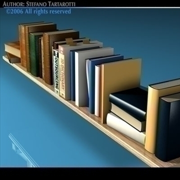 books shelf 3d model 3ds dxf c4d obj 81316