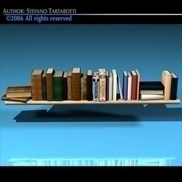 books shelf 3d model 3ds dxf c4d obj 81317