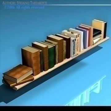 books shelf 3d model 3ds dxf c4d obj 81318
