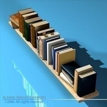 books shelf 3d model 3ds dxf c4d obj 81319