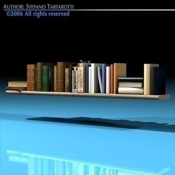 books shelf 3d model 3ds dxf c4d obj 81320