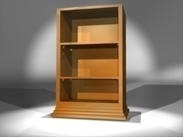 bookshelf 3d model 3ds dxf lwo 81088