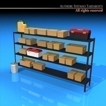 garage shelves 3d model 3ds dxf c4d obj 94038