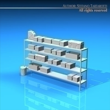 garage shelves 3d model 3ds dxf c4d obj 94041