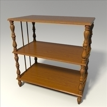 wooden shelf 3d model 3ds blend obj 103650