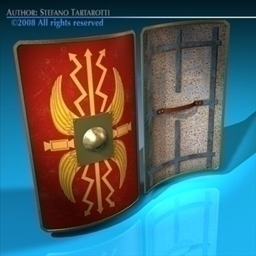 roman shield 3d model 3ds dxf c4d obj 92370