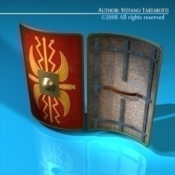 roman shield 3d model 3ds dxf c4d obj 92372