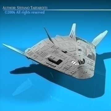 sci-fi space shuttle 3d model 3ds dxf c4d obj 84201