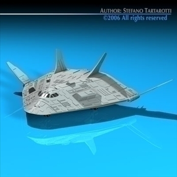 sci-fi space shuttle 3d model 3ds dxf c4d obj 84203
