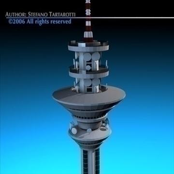 communications tower 3d model 3ds dxf c4d obj 84507