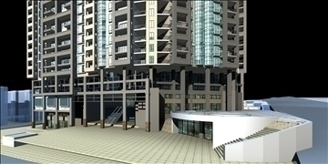 urban spaces 042 3d model 3ds max 91594