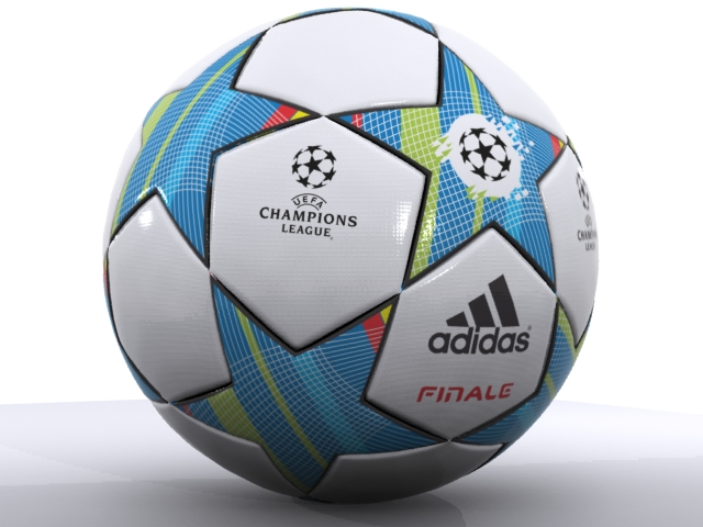 adidas finale 3d official match ball champions 3d model max fbx 163716