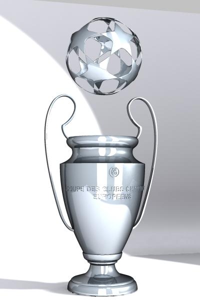 champions league cup 3d model max 114152