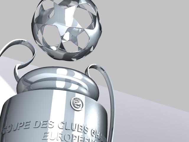 champions league cup 3d model max 114153