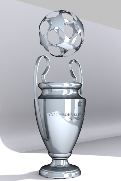 champions league cup 3d model max 114154