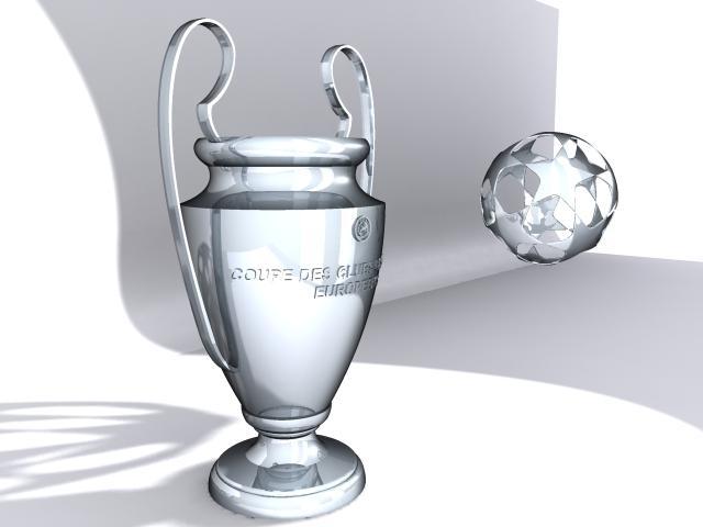 champions league cup 3d model max 114155