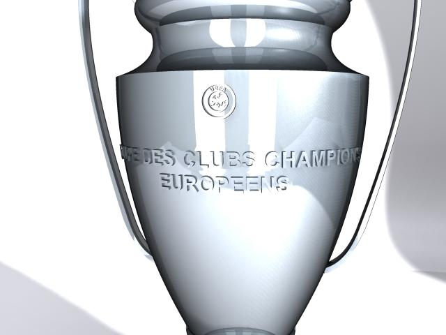 champions league cup 3d model max 114156