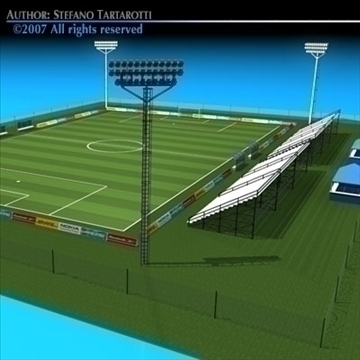 soccer field 3d model 3ds dxf c4d obj 85376