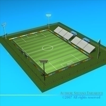 futbol sahəsində 3d model 3ds dxf c4d obj 85377
