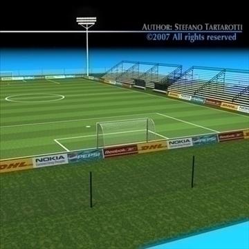 futbol sahəsində 3d model 3ds dxf c4d obj 85378