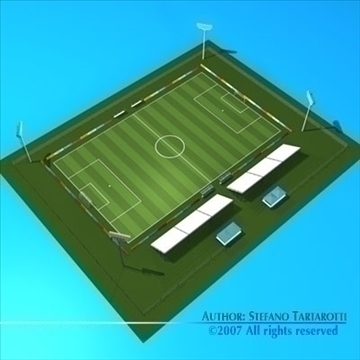futbol sahəsində 3d model 3ds dxf c4d obj 85379