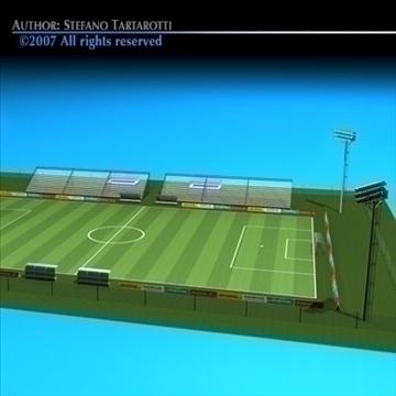 futbol sahəsində 3d model 3ds dxf c4d obj 85380