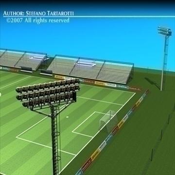futbol sahəsində 3d model 3ds dxf c4d obj 85381