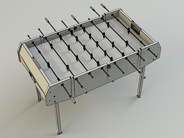 table-soccer 3d model 3ds max obj 139174