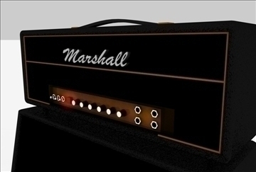 marshall amplifier set 3d model 3ds c4d texture 86867