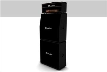 marshall amplifier set 3d model 3ds c4d texture 86868