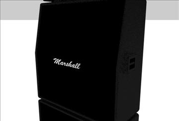 marshall amplifier set 3d model 3ds c4d texture 86869