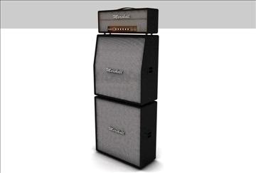 marshall amplifier set 3d model 3ds c4d texture 86870