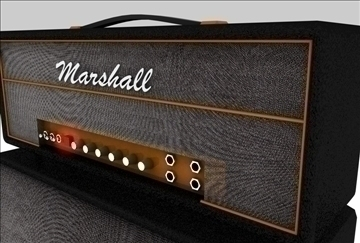 marshall amplifier set 3d model 3ds c4d texture 86871