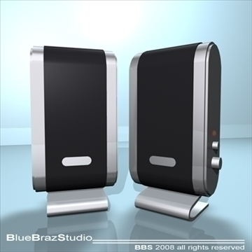 pc speakers 3d model 3ds dxf c4d obj 93189