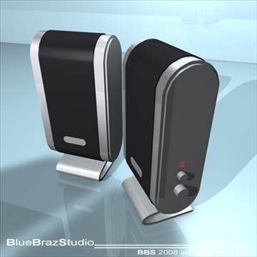 pc speakers 3d model 3ds dxf c4d obj 93190