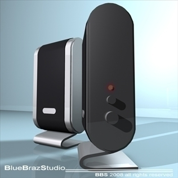 pc speakers 3d model 3ds dxf c4d obj 93191