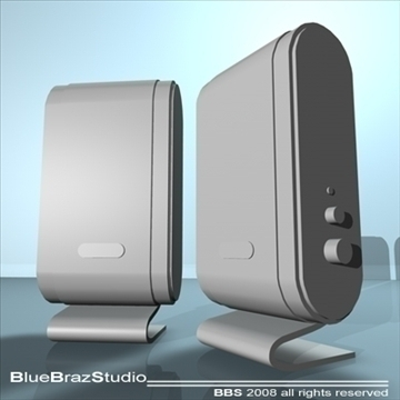 pc speakers 3d model 3ds dxf c4d obj 93192
